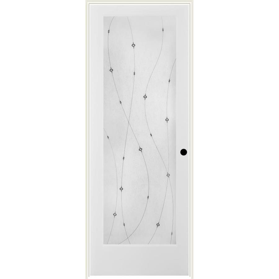 ReliaBilt Shelby Solid Core Frosted Glass Single Prehung Interior Door (Common: 30-in x 80-in; Actual: 31.5-in x 81.6875-in)