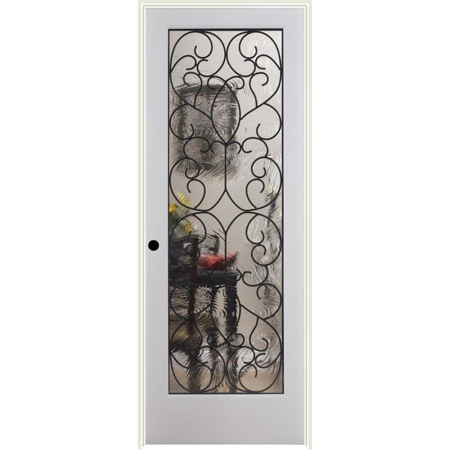 Gentil ReliaBilt White 1 Panel Solid Core Wood Pine Single Prehung Door (Common: 30