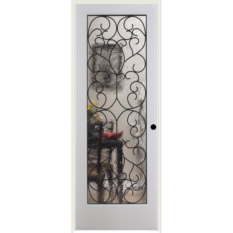 ReliaBilt Hacienda Wrought Iron Solid Core Single Prehung Interior Door (Common: 32-in x 80-in; Actual: 33.5-in x 82.1875-in)