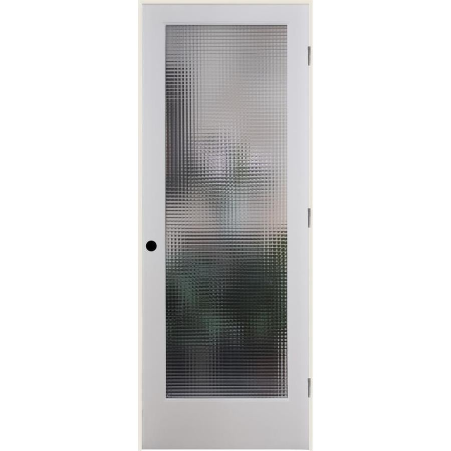 ReliaBilt Cross Reed Solid Core Patterned Glass Single Prehung Interior Door (Common: 30-in x 80-in; Actual: 31.5-in x 81.6875-in)