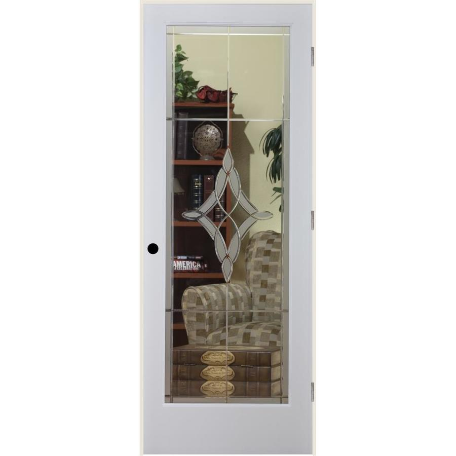 ReliaBilt Madison Solid Core Etched Glass Single Prehung Interior Door (Common: 28-in x 80-in; Actual: 29.5-in x 82.1875-in)