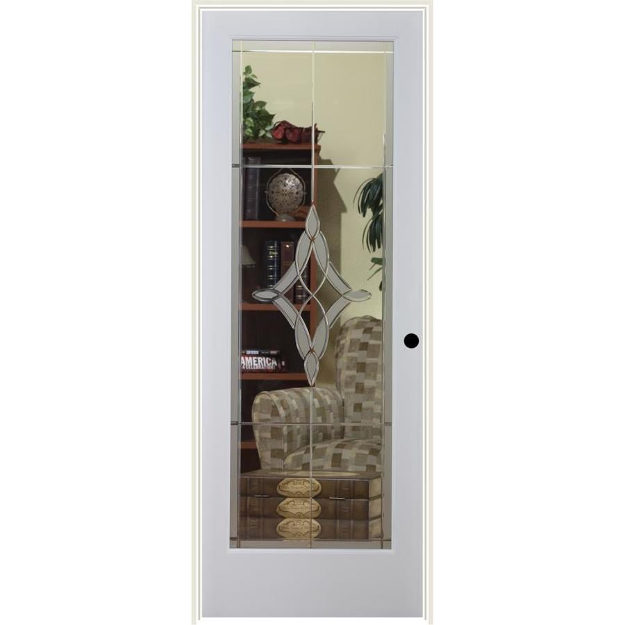 ReliaBilt Madison Solid Core Etched Glass Single Prehung Interior Door (Common: 24-in x 80-in; Actual: 25.5-in x 81.3125-in)