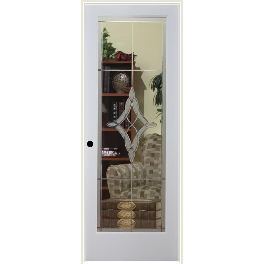 ReliaBilt Madison Solid Core Etched Glass Single Prehung Interior Door (Common: 28-in x 80-in; Actual: 29.5-in x 81.6875-in)