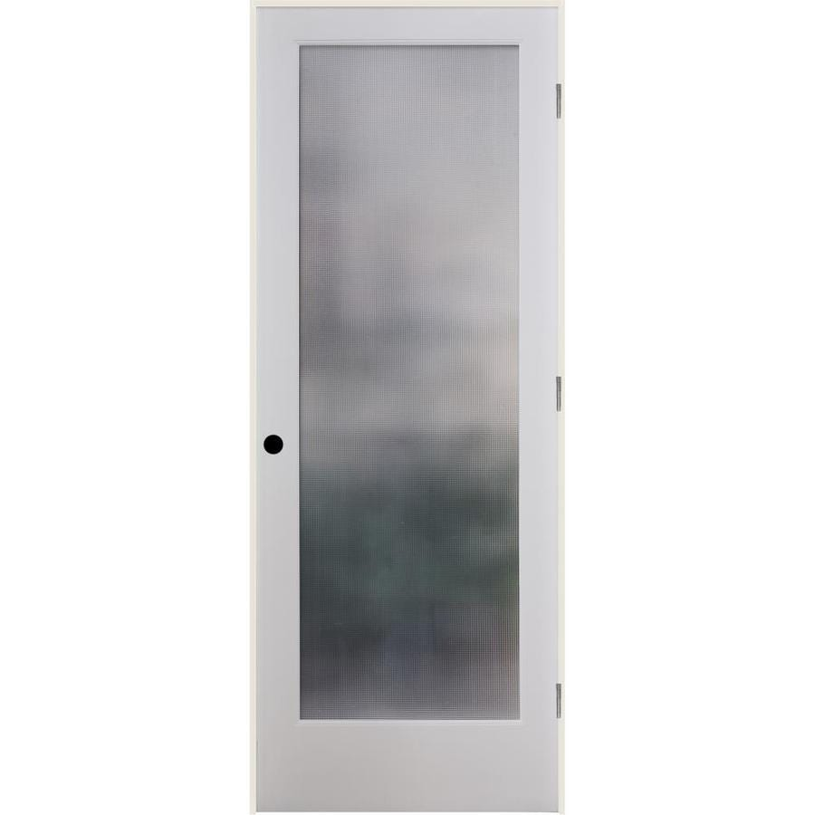 ReliaBilt Micro Cross Reed Solid Core Patterned Glass Single Prehung Interior Door (Common: 32-in x 80-in; Actual: 33.5-in x 81.3125-in)