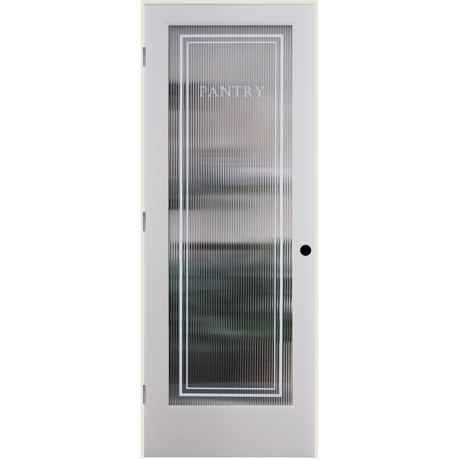Shop reliabilt reeded pantry solid core patterned glass for Solid core exterior door with window
