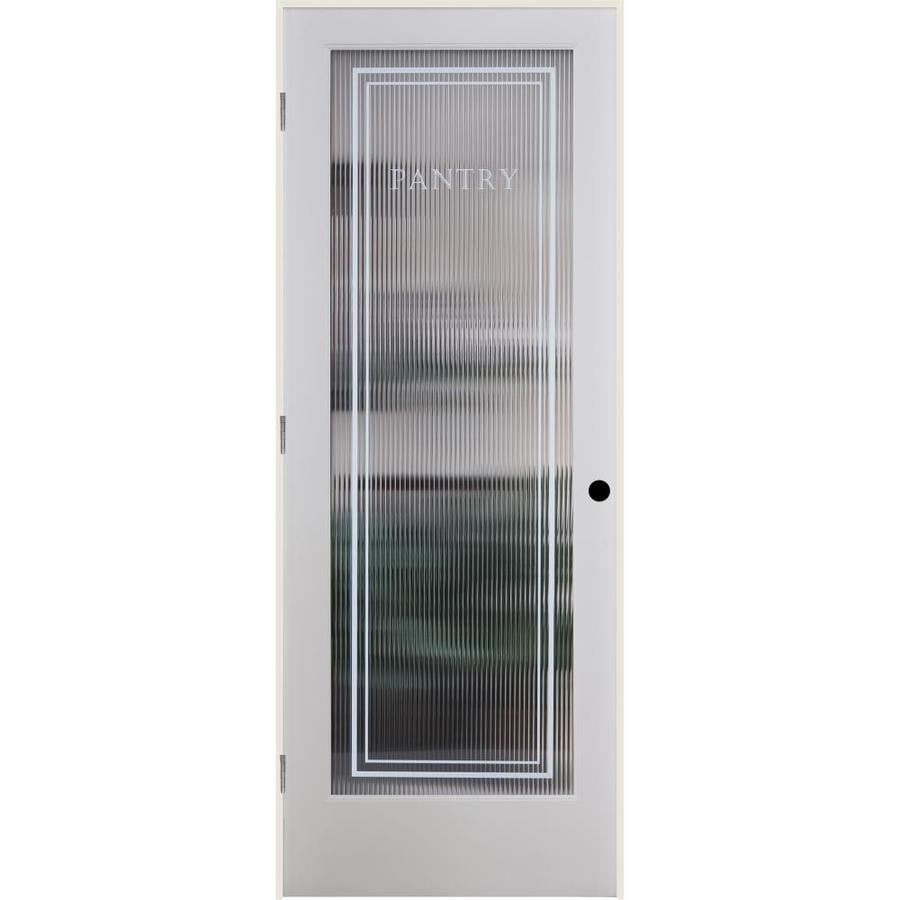ReliaBilt Reeded Pantry Solid Core Patterned Glass Single Prehung Interior Door (Common: 36-in x 80-in; Actual: 37.5-in x 81.6875-in)
