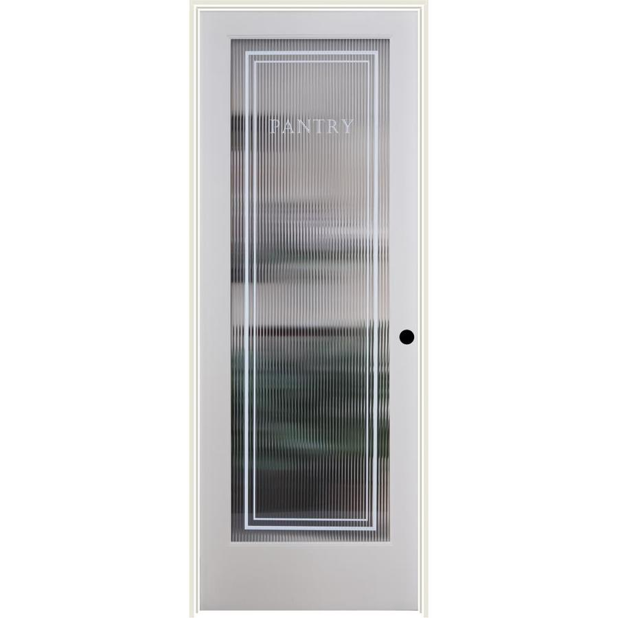 ReliaBilt Reeded Pantry Solid Core Patterned Glass Single Prehung Interior Door (Common: 24-in x 80-in; Actual: 25.5-in x 81.3125-in)