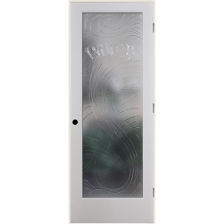 ReliaBilt Cast Pantry Solid Core Single Prehung Interior Door (Common: 28-in x 80-in; Actual: 29.5-in x 81.6875-in)