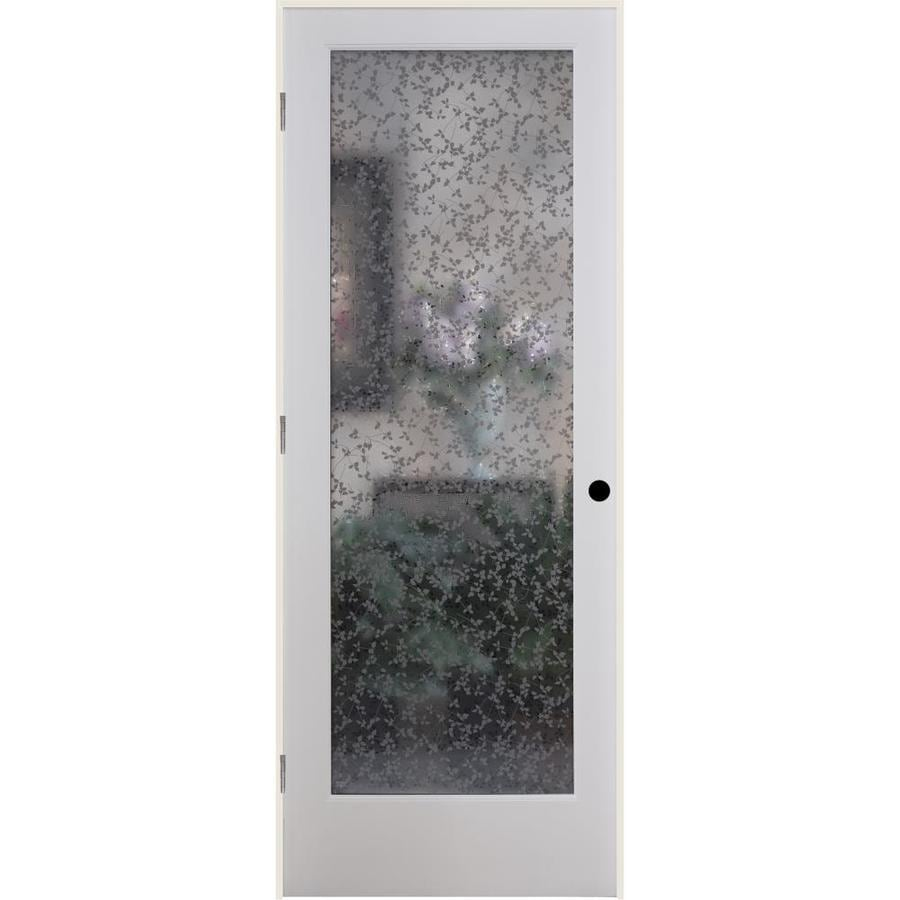 ReliaBilt Ivy Solid Core Frosted Glass Single Prehung Interior Door (Common: 36-in x 80-in; Actual: 37.5-in x 82.1875-in)