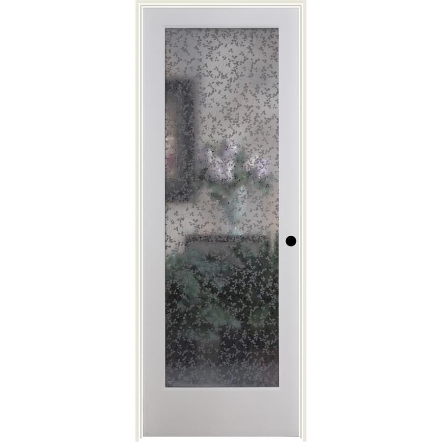 ReliaBilt Ivy Solid Core Frosted Glass Single Prehung Interior Door (Common: 24-in x 80-in; Actual: 25.5-in x 82.1875-in)
