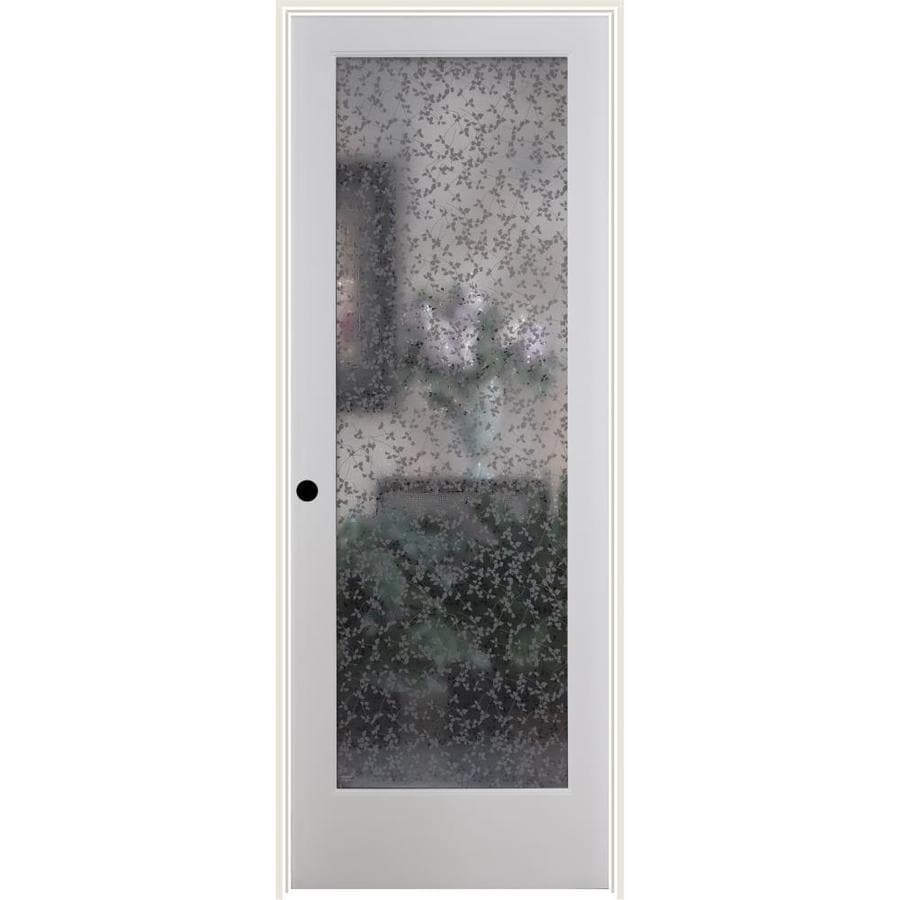 ReliaBilt Ivy Solid Core Frosted Glass Single Prehung Interior Door (Common: 32-in x 80-in; Actual: 33.5-in x 82.1875-in)