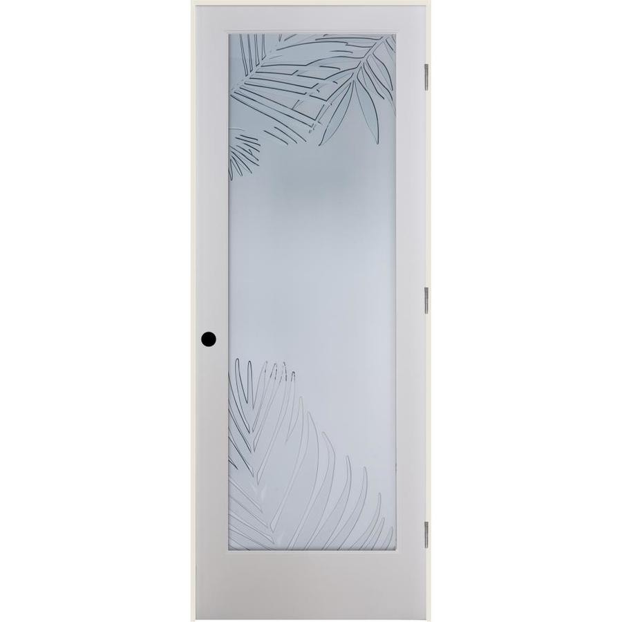 ReliaBilt Mazatlan Solid Core Frosted Glass Single Prehung Interior Door (Common: 36-in x 80-in; Actual: 37.5-in x 81.6875-in)