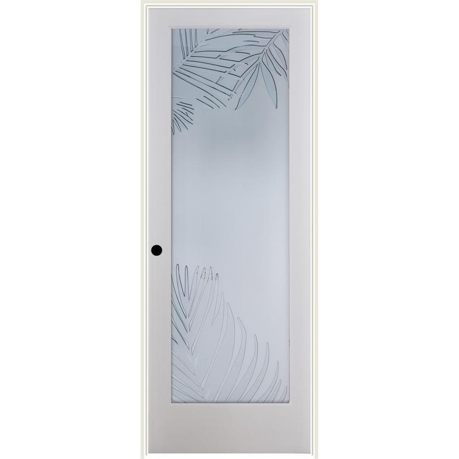 ReliaBilt Mazatlan Solid Core Frosted Glass Single Prehung Interior Door (Common: 32-in x 80-in; Actual: 33.5-in x 81.6875-in)