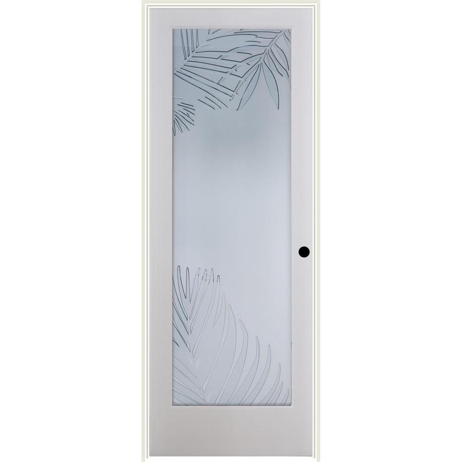 ReliaBilt Mazatlan Solid Core Frosted Glass Single Prehung Interior Door  (Common: 32 In