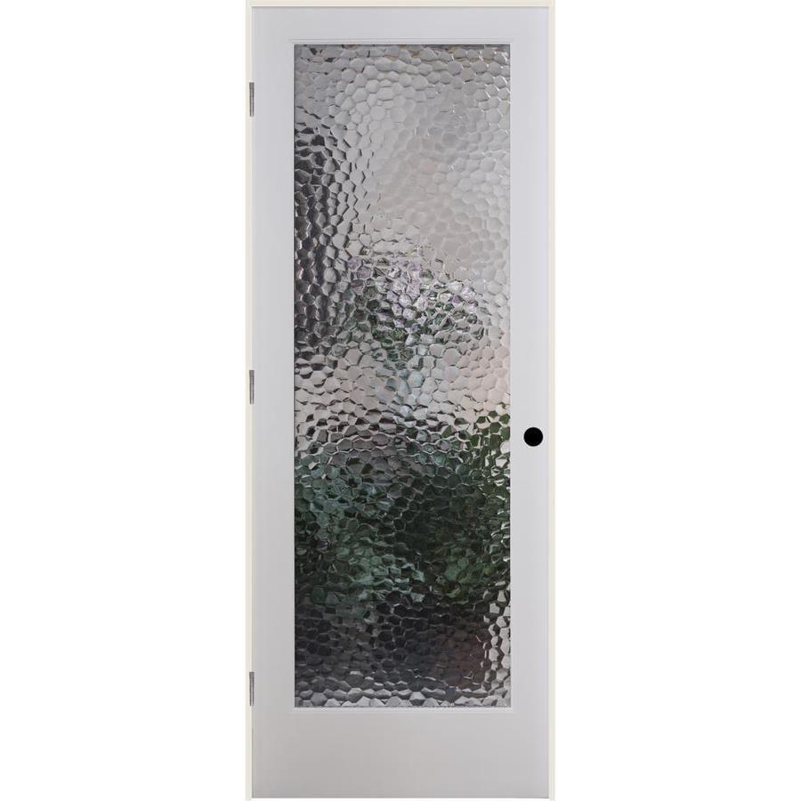 ReliaBilt Bermuda Solid Core Patterned Glass Single Prehung Interior Door (Common: 24-in x 80-in; Actual: 25.5-in x 81.3125-in)