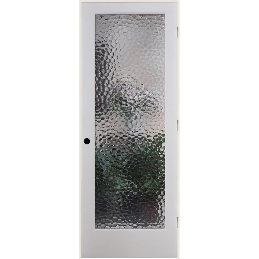 ReliaBilt Bermuda Solid Core Patterned Glass Single Prehung Interior Door (Common: 28-in x 80-in; Actual: 29.5-in x 81.6875-in)