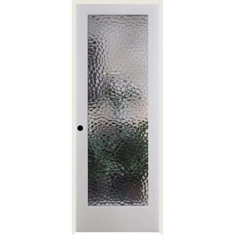 ReliaBilt Bermuda Solid Core Patterned Glass Single Prehung Interior Door (Common: 36-in x 80-in; Actual: 37.5-in x 81.3125-in)