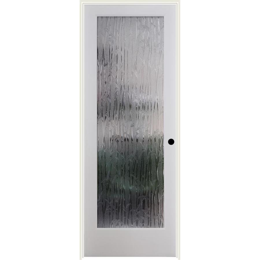 ReliaBilt Bamboo Solid Core Patterned Glass Single Prehung Interior Door (Common: 32-in x 80-in; Actual: 33.5-in x 81.3125-in)