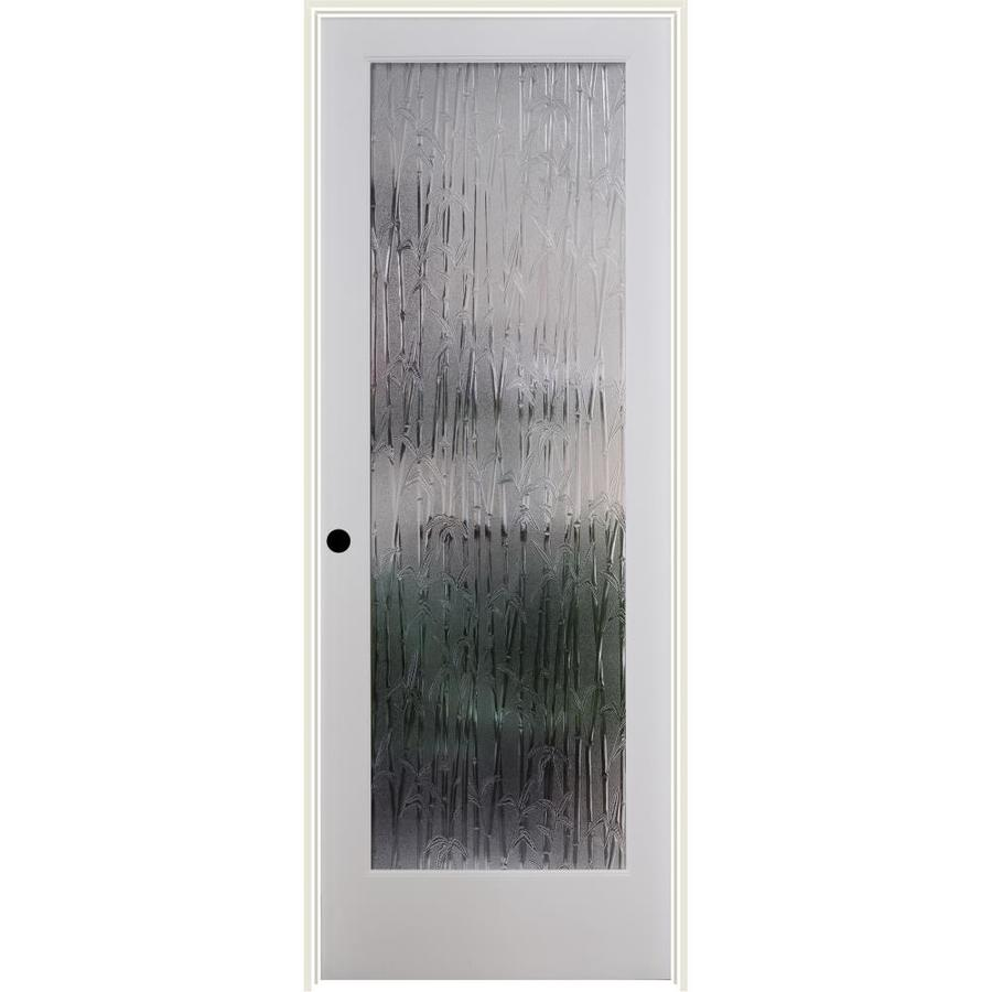 ReliaBilt Bamboo Solid Core Patterned Glass Single Prehung Interior Door (Common: 32-in x 80-in; Actual: 33.5-in x 82.1875-in)