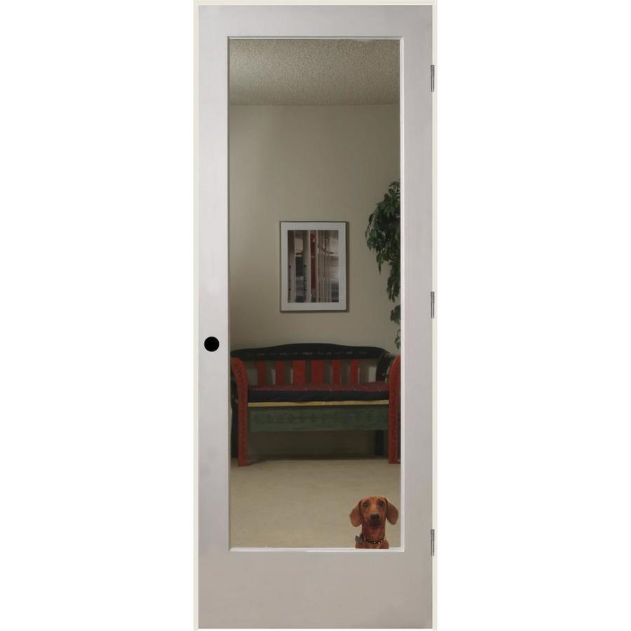 ReliaBilt Reflections Solid Core Mirror Single Prehung Interior Door (Common: 32-in x 80-in; Actual: 33.5-in x 81.3125-in)