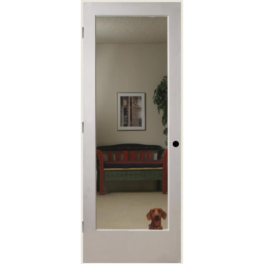 ReliaBilt Reflections Solid Core Mirror Single Prehung Interior Door (Common: 24-in x 80-in; Actual: 25.5-in x 81.6875-in)