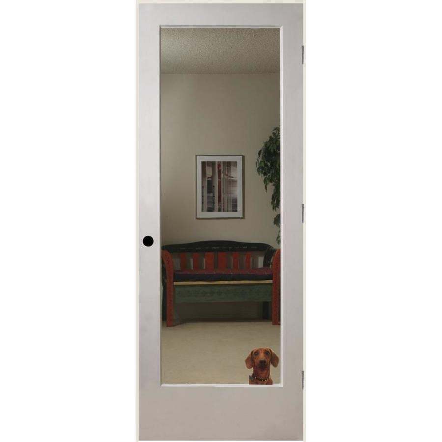 Reliabilt White 1 Panel Solid Core Mirrored Glass Wood