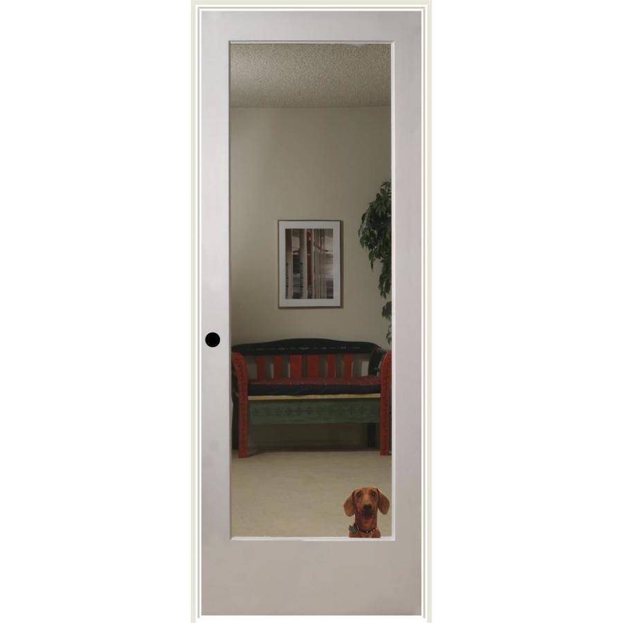 ReliaBilt Reflections Solid Core Mirror Single Prehung Interior Door (Common: 24-in x 80-in; Actual: 25.5-in x 81.3125-in)