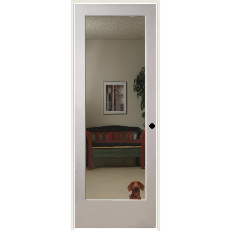 ReliaBilt Reflections Solid Core Mirror Single Prehung Interior Door (Common: 32-in x 80-in; Actual: 33.5-in x 81.6875-in)