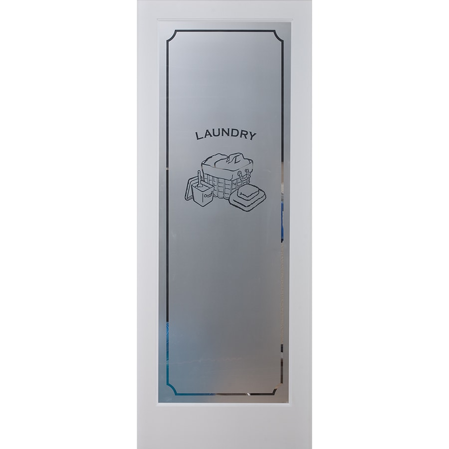 ReliaBilt Laundry Solid Core Frosted Glass Slab Interior Door (Common: 30-in x 80-in; Actual: 30-in x 80-in)