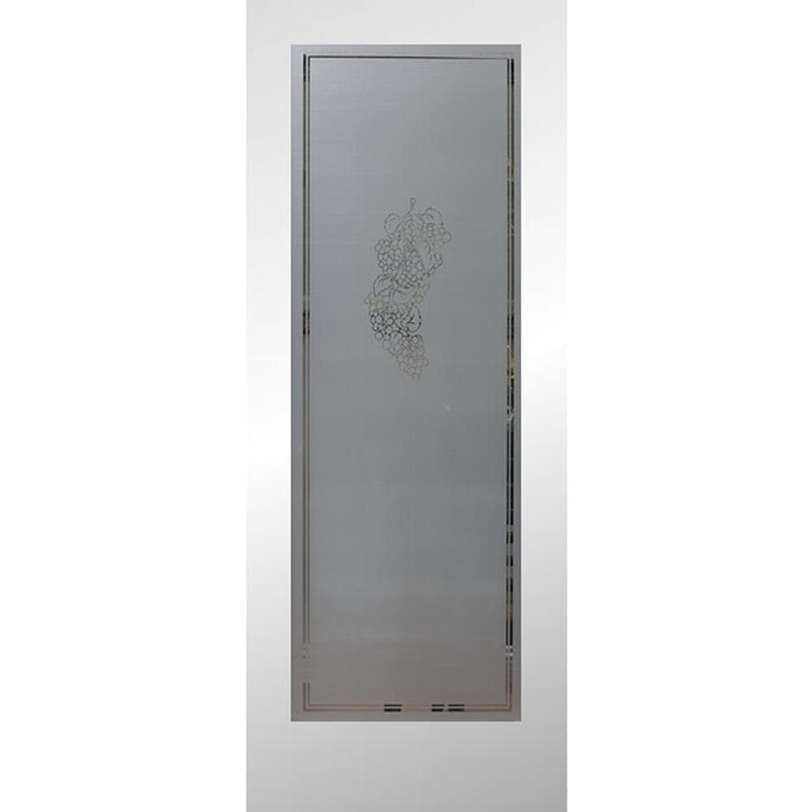 Shop reliabilt vintage primed 1 panel solid core frosted glass wood slab door common 30 in x for Interior doors with frosted glass panels