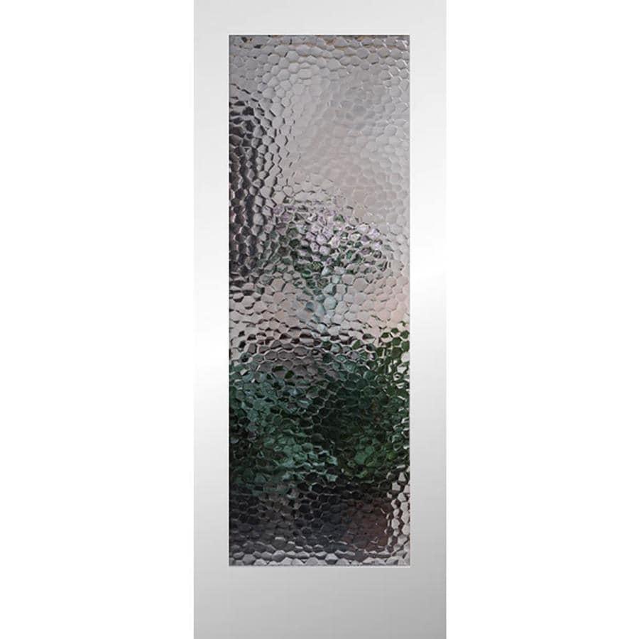 ReliaBilt Bermuda Solid Core Patterned Glass Slab Interior Door (Common: 32-in x 80-in; Actual: 32-in x 80-in)