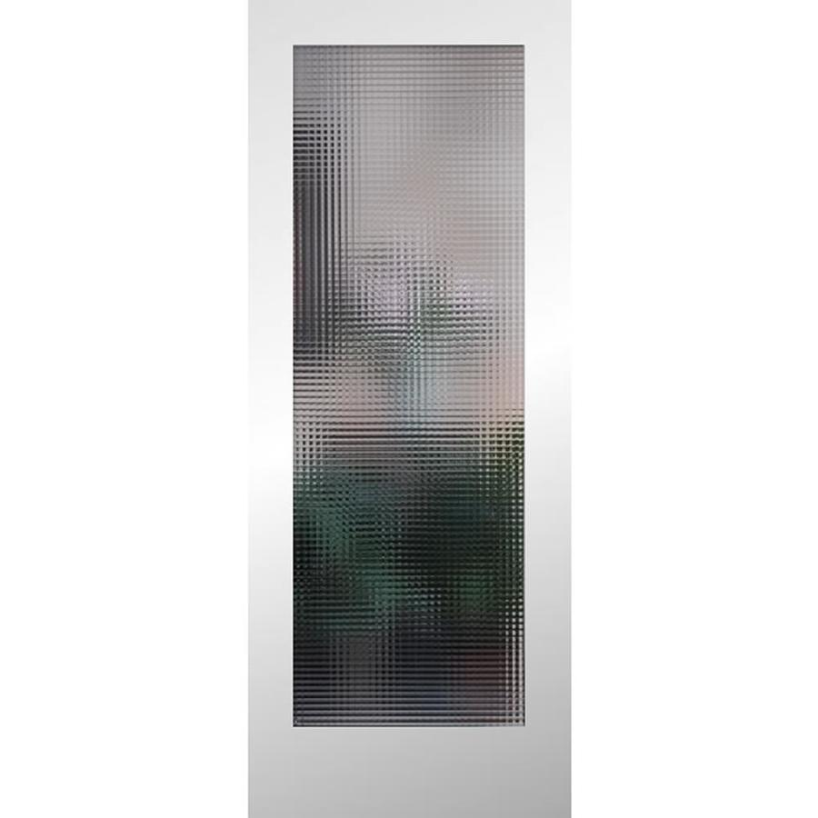 ReliaBilt Cross Reed Solid Core Patterned Glass Slab Interior Door (Common: 28-in x 80-in; Actual: 28-in x 80-in)