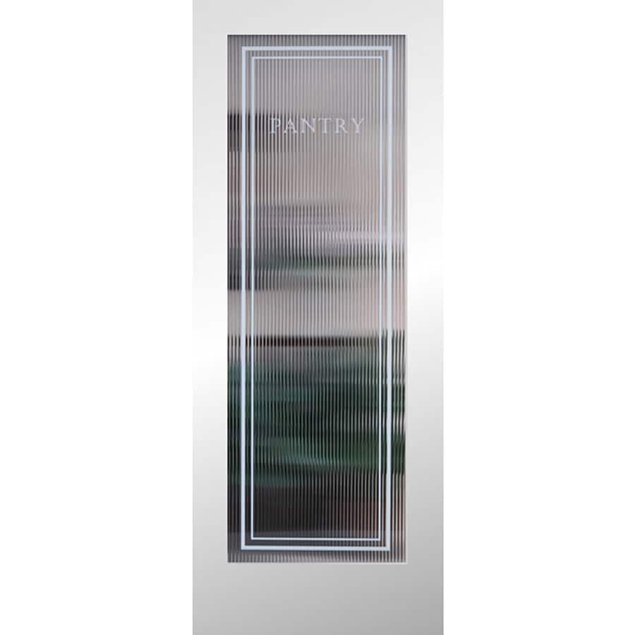 ReliaBilt Reeded Pantry Solid Core Patterned Glass Slab Interior Door (Common: 28-in x 80-in; Actual: 28-in x 80-in)