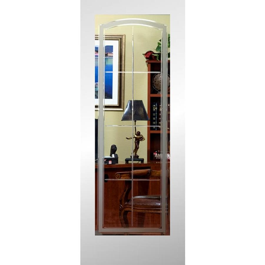 ReliaBilt Stratford Solid Core Etched Glass Slab Interior Door (Common: 28-in x 80-in; Actual: 28-in x 80-in)