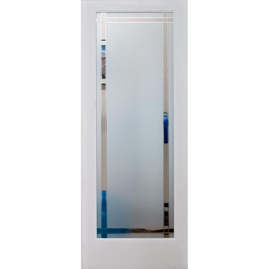 ReliaBilt 9LT Obscure Solid Core Etched Glass Slab Interior Door (Common: 28-in x 80-in; Actual: 28-in x 80-in)