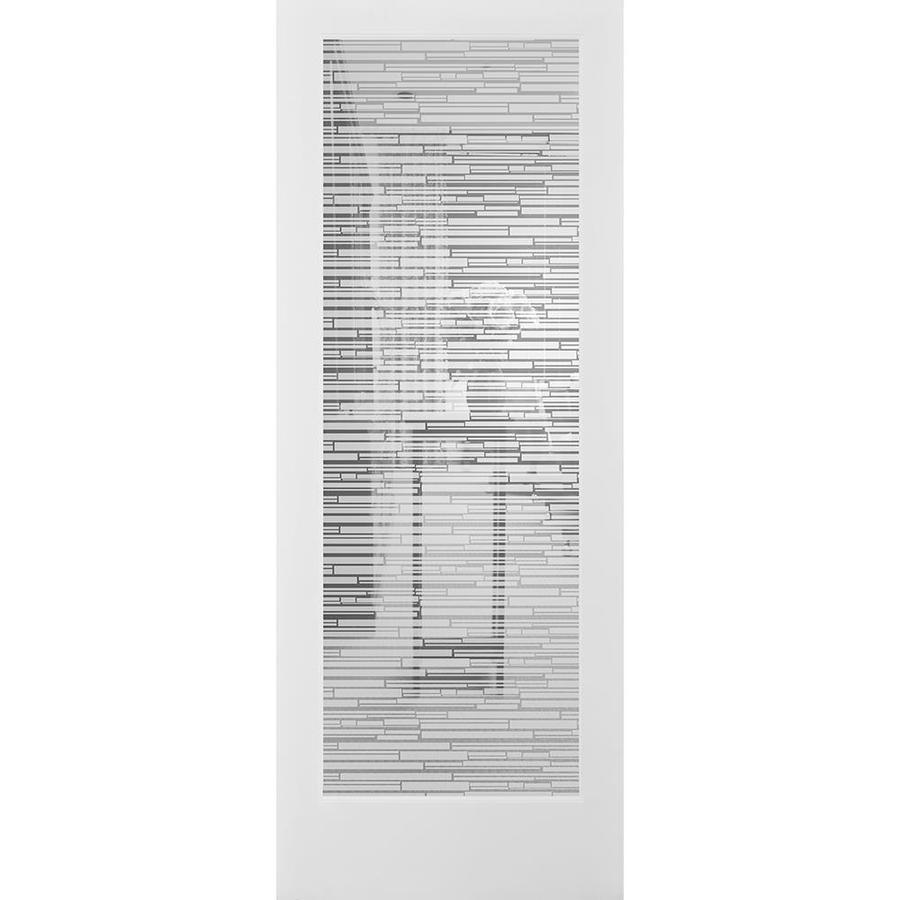 ReliaBilt Mosaic Solid Core Patterned Glass Slab Interior Door (Common: 24-in x 80-in; Actual: 24-in x 80-in)