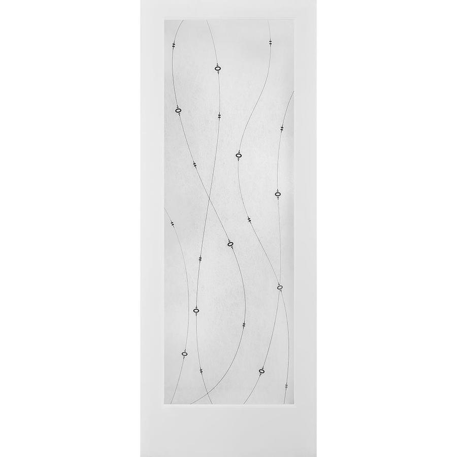 ReliaBilt Shelby Solid Core Frosted Glass Slab Interior Door (Common: 24-in x 80-in; Actual: 24-in x 80-in)
