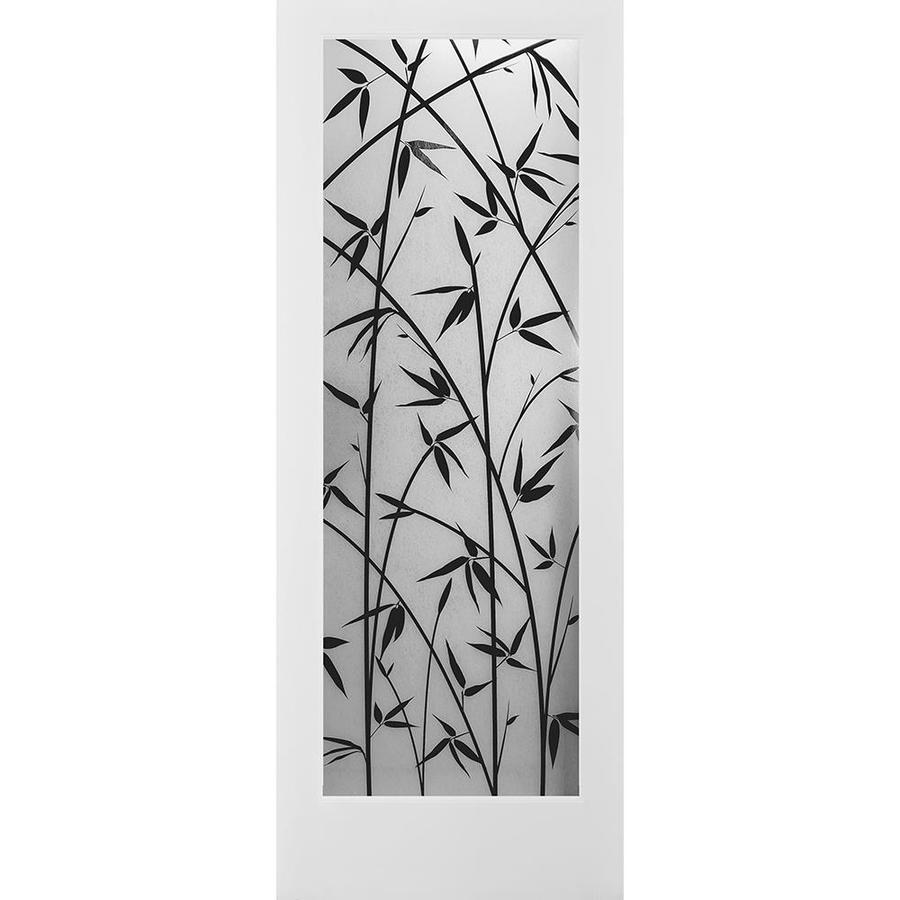 ReliaBilt Bamboo Solid Core Patterned Glass Slab Interior Door (Common: 36-in x 80-in; Actual: 36-in x 80-in)