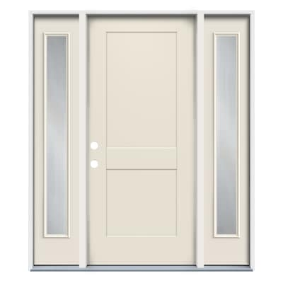 Craftsman Frosted Glass Front Doors At Lowes Com Exterior doors are an important security investment. craftsman frosted glass front doors at