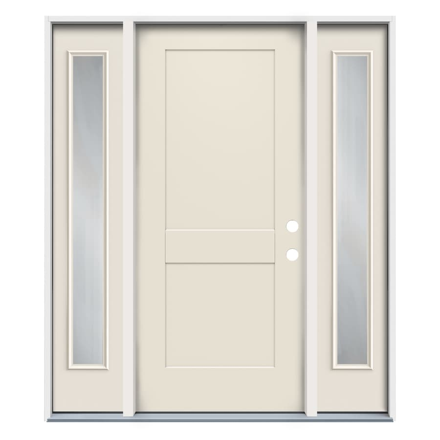 Reliabilt Full Lite Frosted Glass Right Hand Inswing White