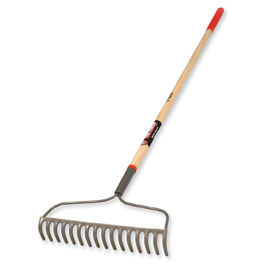 Shop Garden Plus 35 in L Steel Handle Steel Head Garden Rake at