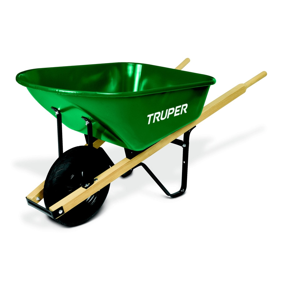 Truper 6 Cu Ft Steel Wheelbarrow