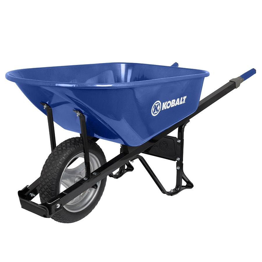 Kobalt 6 Cu Ft Steel Wheelbarrow With Flat Free Tire S