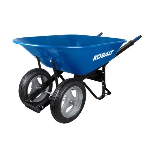 Kobalt 7 Cu Ft Steel Wheelbarrow With Flat Free Tire In The Wheelbarrows Department At Lowes Com