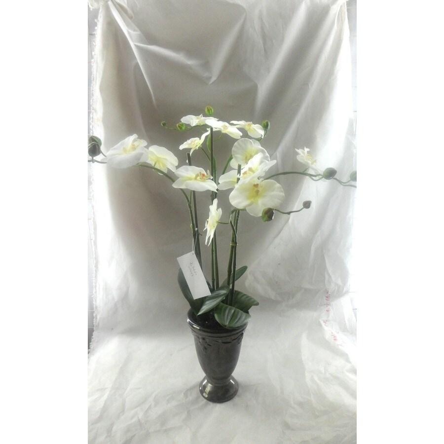 22-in White Artificial Plant