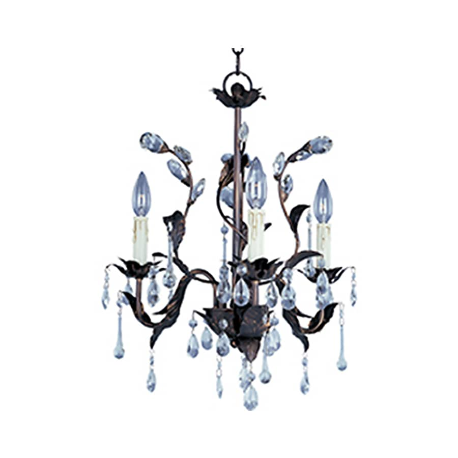 Pyramid Creations Grove 18-in 3-Light Oil-Rubbed Bronze Standard Chandelier