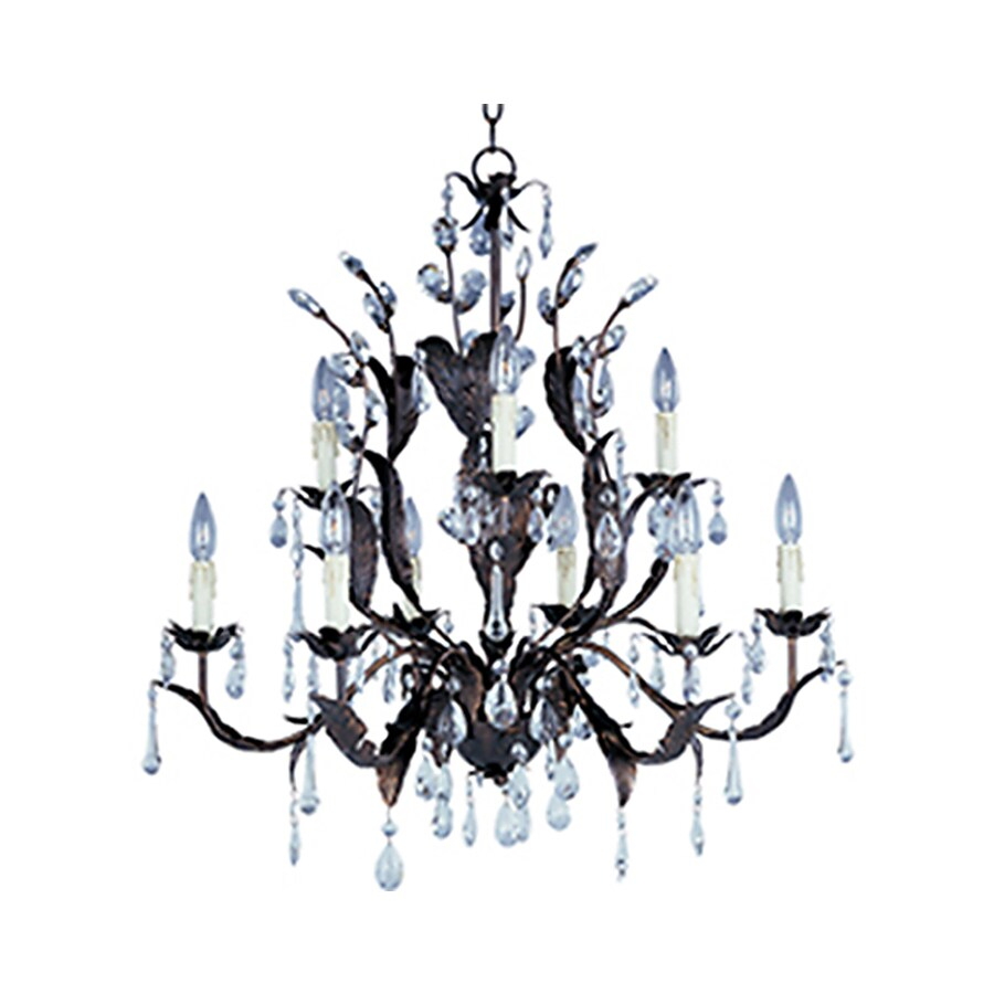 Pyramid Creations Grove 32-in 9-Light Oil-Rubbed Bronze Standard Chandelier