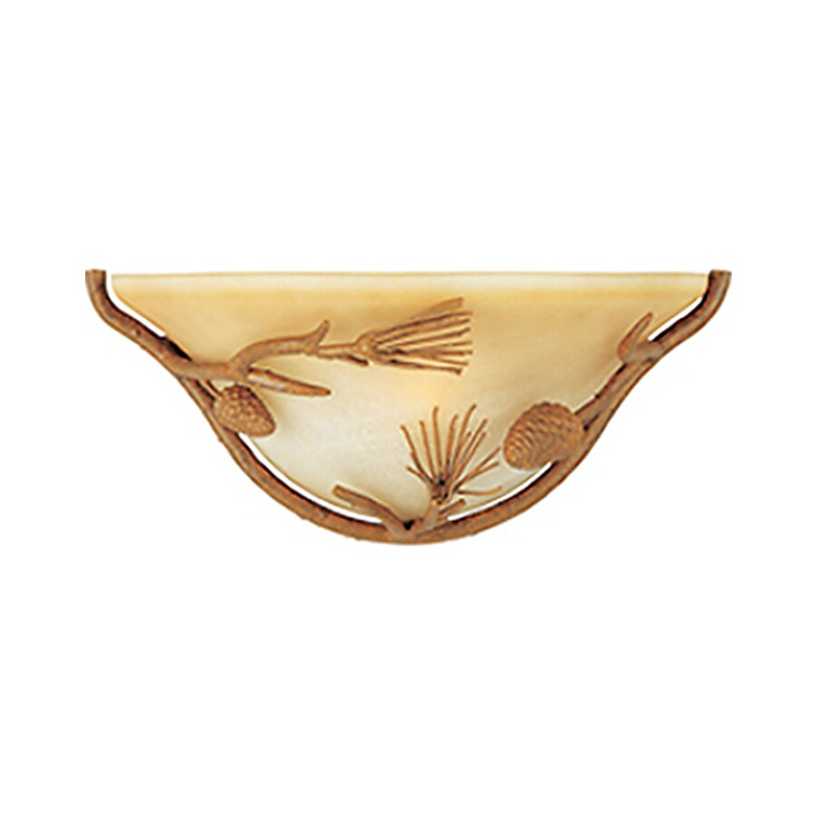 Pyramid Creations Pine Grove 14-in W 1-Light Pocket Wall Sconce