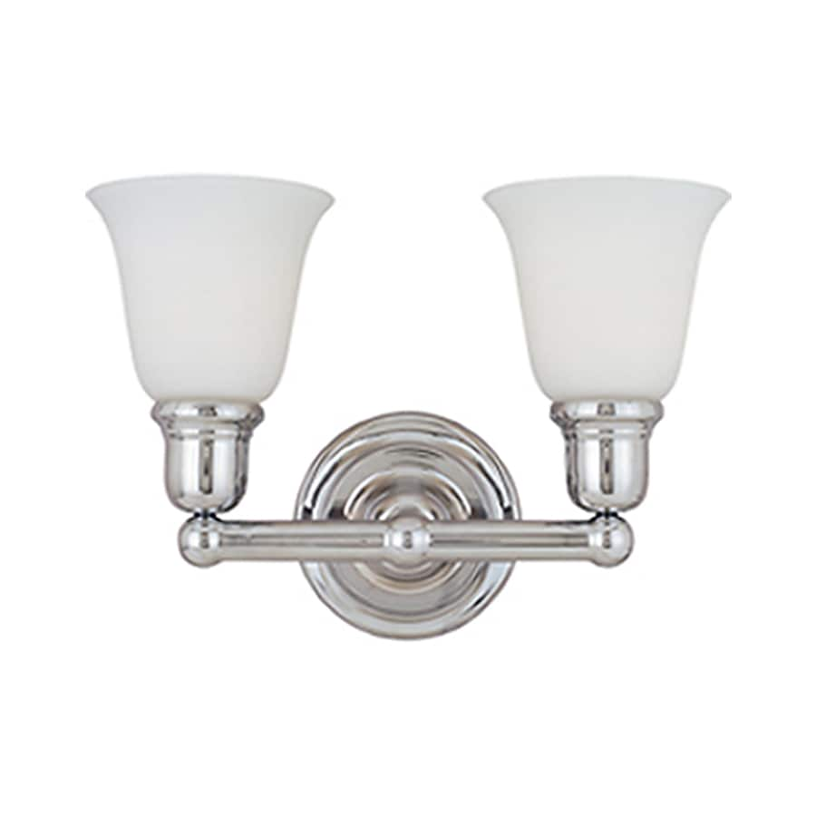 Shop Pyramid Creations Bel Air 2-Light 10-in Polished Chrome Bell Vanity Light at Lowes.com