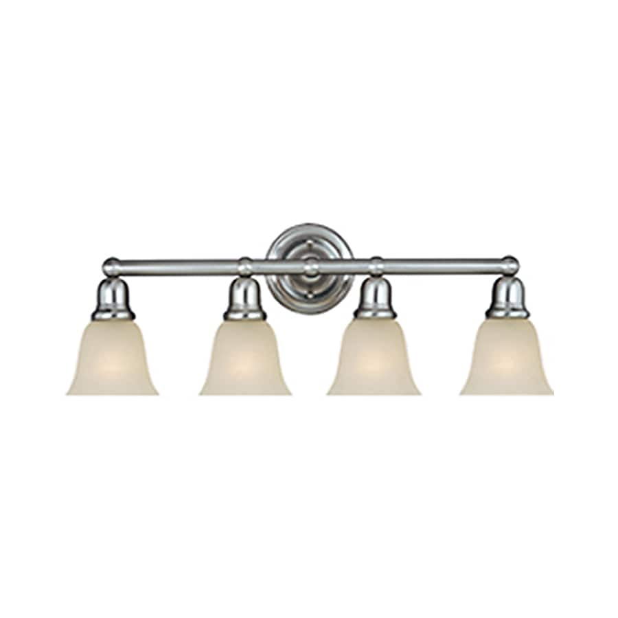 Vanity Lights Satin Nickel : Shop Pyramid Creations Bel Air 4-Light 10-in Satin Nickel Bell Vanity Light at Lowes.com